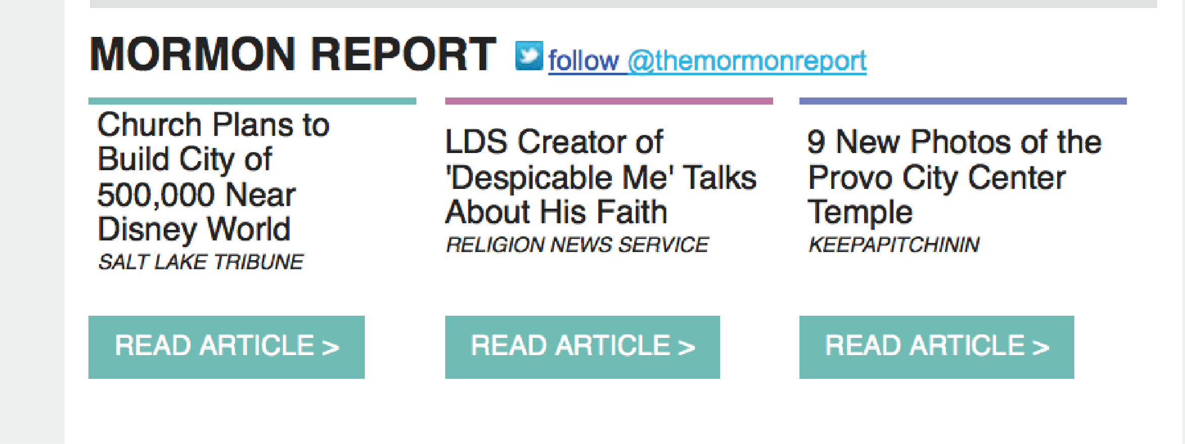 LDS Living Email