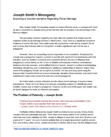 Joseph Smiths Polygamy
